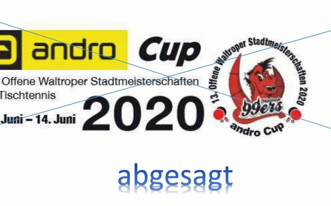 "Absage ""13. Offene Waltroper Stadtmeisterschaften – andro Cup"""